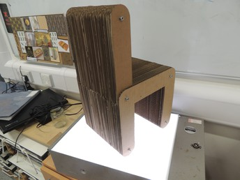 Corrugated Cardboard chair by William Carvell.