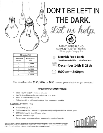 Assistance for families in need.