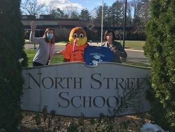Turkey mascot visits North Street