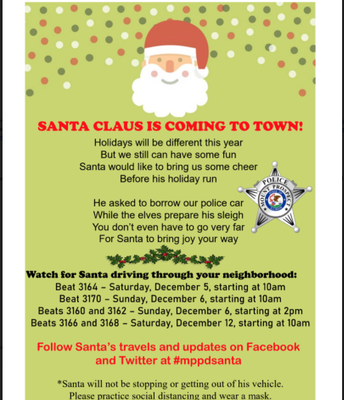 MPPD SANTA CLAUS IS COMING TO TOWN