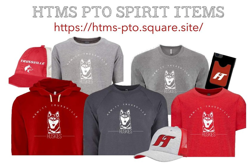picture of spirit items..shirts and hats