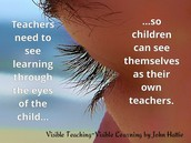 See learning through the eyes of the child