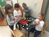 """Making """"sushi"""" with unifix cubes"""