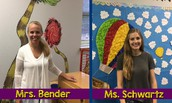 Welcome to Harrington, Mrs. Bender & Ms. Schwartz!