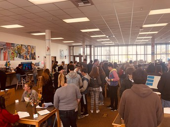 Huge turnout for the English 10 Poetry Gala.  Such amazing creativity and insight!
