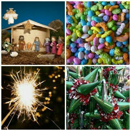 posada, candy, lights, piñata