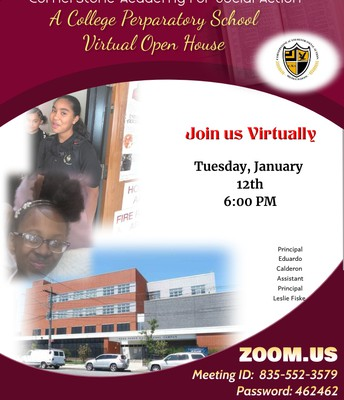MS 462- Open House  Jan. 12th; 6 pm