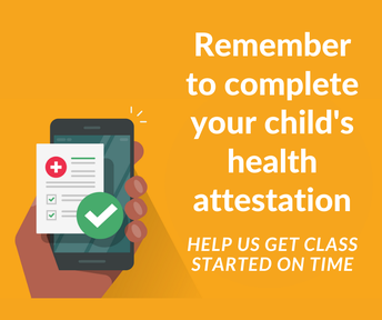 Attestation reminders - Healthy Habits for School