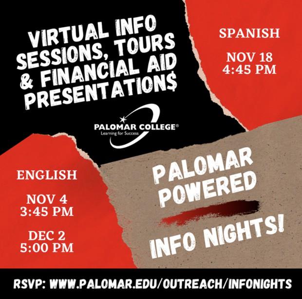 Palomar Powered Info Nights