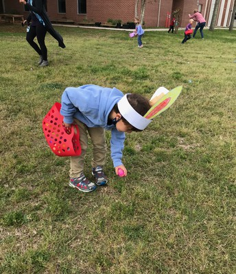 hunting for eggs!