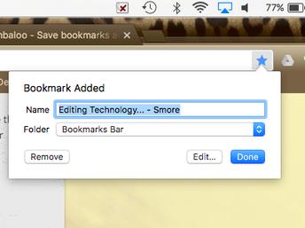 Bookmark-saving a website