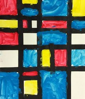 Mondrian style Painting - 1st Grade