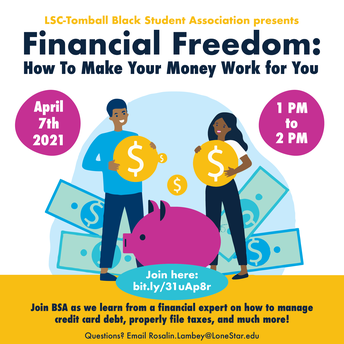 Financial Freedom: How to Make Your Money Work for You, Wednesday April 7th @ 1 PM - 2 PM