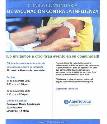 Community Flu Shot Clinic Flyer - Spanish