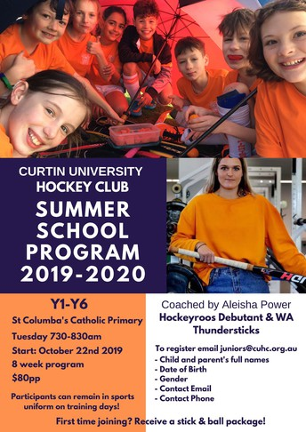 Curtin University Hockey Club Summer School Program at St Columba's