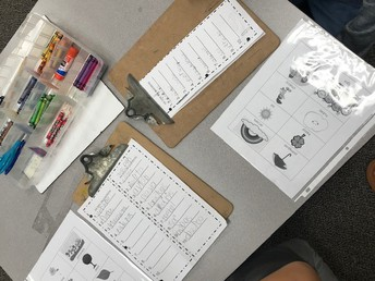 We can hear our sounds and write them down independently!