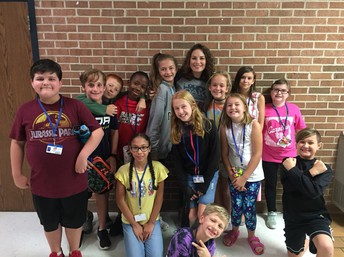 Principal Graham with Mrs. Graffte's 5th Grade Class