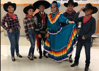 Hernandez Ballet Folklorico was invited to perform for students at Hudson Bend Middle School in Lake Travis ISD.