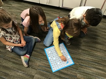 First Graders learn math