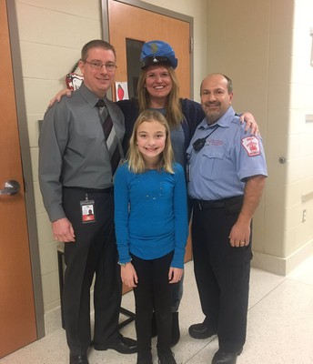 EV students and staff donned blue to show support for National Law Enforcement Appreciation Day