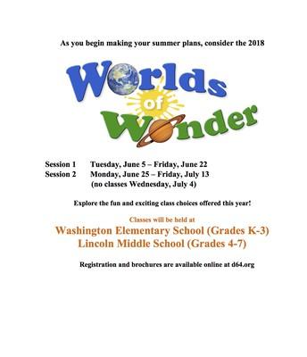 Worlds of Wonder Flyer