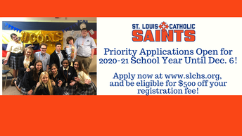 Future Saints - Priority Application for 2020-21 Closes Friday!