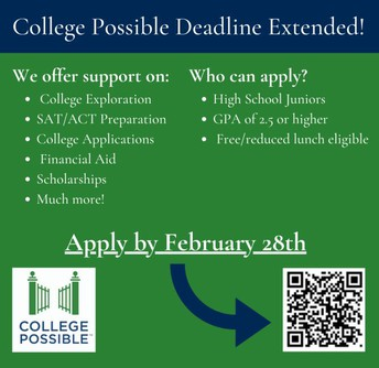 Juniors Join College Possible by February 28