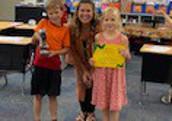Mrs. Gieber's Class Won the PAWS Award!