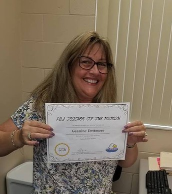 Teacher of the Month - Mrs. Dettmore