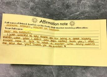 Affirmation Notes!