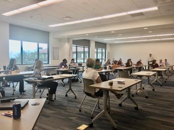 Practicing social distancing @ TISD leadership meeting
