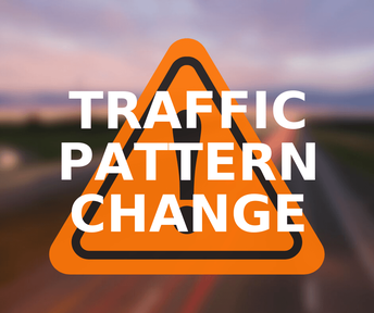 Change in traffic pattern due to construction