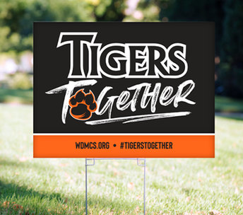 Tigers Together Yard Sign