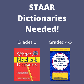 STAAR Dictionaries for 3rd-5th