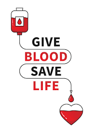 give blood, save life- blood bag dripping blood into heart