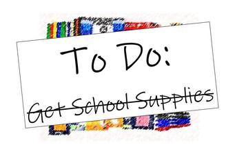 School Supplies - CHECK!