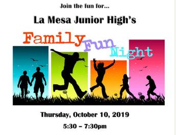 SAVE the DATE - Fall Family Fun Night