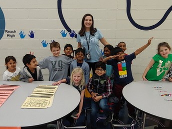 Mrs. Hofbauer and her students