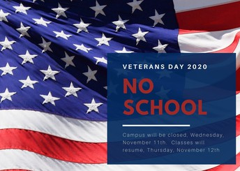 Veterans Day - No School