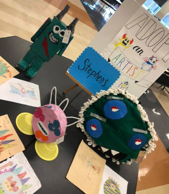 Myers MS/Stephens ES Adopt-an-Artist Exhibit