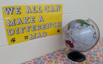 "Our school theme for the 2019-2020 school year is, ""Make a Difference""  #M.A.D."