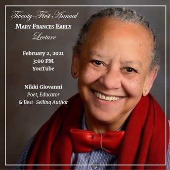 21st Annual Mary Frances Early Lecture