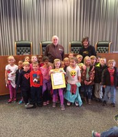 Mrs. Caswell and class at City Hall