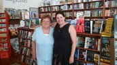 Donor Mary Lou with Bookseller Connie Brooks