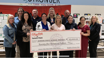 THANK YOU SHOPRITE FOR YOUR GENEROUS DONATION OF $25,000 for BOTTLE FILLING STATIONS FOR ALL THREE SCHOOLS