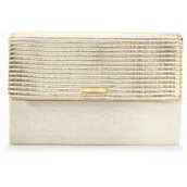 City Slim Clutch-Gold Metallic-brand new $49