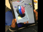 The students loved trying the Augmented Reality