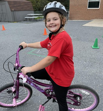 Picture of student at bike rodeo