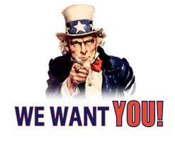 WE WANT YOU!!!!!