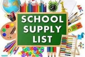 School Supply Lists: